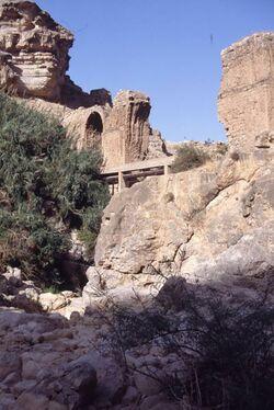 Dia Aquaedukt der alten römischen Wasserleitung im Wadi [Israel-Exkursion]