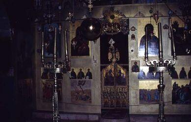 Dia Ikonostas im Kloster [Wadi Kelt, Georgskloster, Israel-Exkursion]