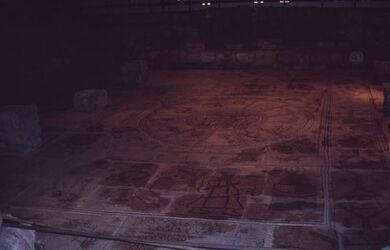 Dia Bet Alpha Fußbodenmosaik [Israel-Exkursion]