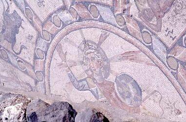 Dia Tiberias, Mittelstück des Mosaiks [Israel-Exkursion]