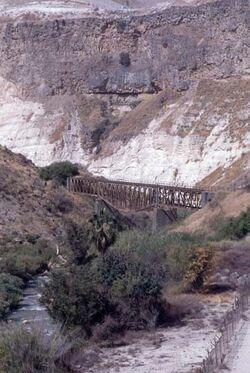 Dia Eisenbahnbrücke im Golan (alte Trasse von Haifa nach Damaskus) [Israel-Exkursion]