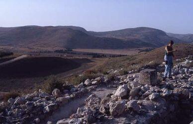 Dia Hazor, abgetragener Berg [Tell el-Kedah, Israel-Exkursion]