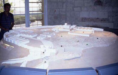 Dia Modell Megiddos [Israel-Exkursion]
