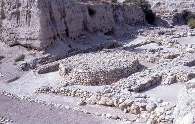 Dia Megiddo runder Opferaltar [Israel-Exkursion]