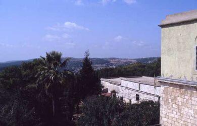 Dia Blick vom Karmel (Eliakloster in Richtung Haifa) [Israel-Exkursion]