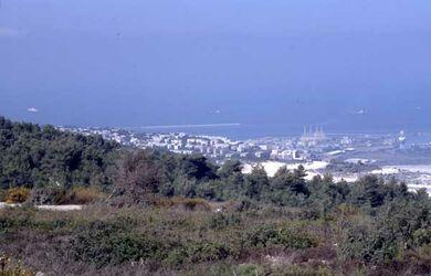 Dia Blick auf Haifa [Israel-Exkursion]