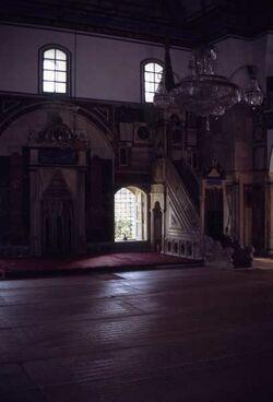 Dia Akko Innenansicht der Ahmed-Jezzar-Moschee [Israel-Exkursion]