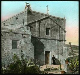 Glasplattendia Werkstätte des heil. Josef in Nazareth