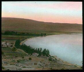 Glasplattendia Magdala (Medjdel) am See Genezareth