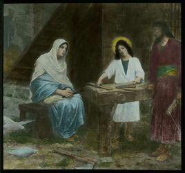 Glasplattendia Altarbild in der Werkstätte Joseph