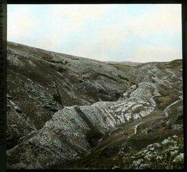 Glasplattendia Wadi bedan. Gebirgstal-östl. Samarien