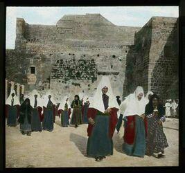 Glasplattendia Frauen von Bethlehem