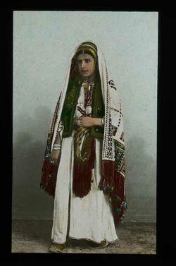Glasplattendia Frauen von Ramallah