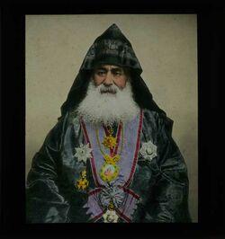 Glasplattendia Armenischer Patriarch