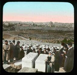 Glasplattendia Jüd. Friedhof am Oelberg [Jerusalem]