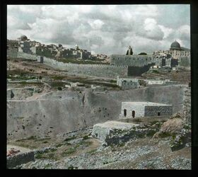 Glasplattendia Berg Ophel, Jerusalem