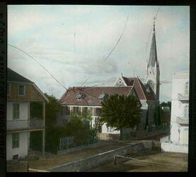 Glasplattendia Evang. Kirche in der Deutschen Kolonie, Jaffa [Tel Aviv]