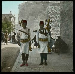 Glasplattendia Limonade-Verkäufer, Jerus. [Jerusalem]