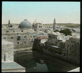 Glasplattendia Hiskiateich, Jerusalem