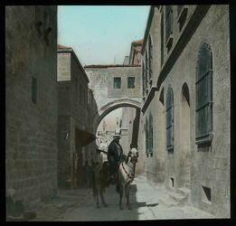 Glasplattendia Ecce homoBogen in der Via dolorosa [Jerusalem]