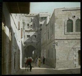 Glasplattendia Haus des reichen Mannes u. IV. Station, Jerusalem
