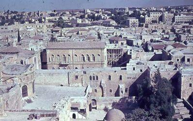 Dia V. Turm Erlöserkirche über Grabeskirche [nach] N. [Jerusalem]