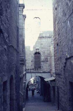 Dia Straße in Altstadt [Jerusalem]