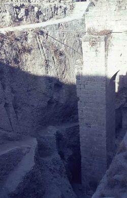 Dia Bethesda Byzant. Substruktionen [Jerusalem]