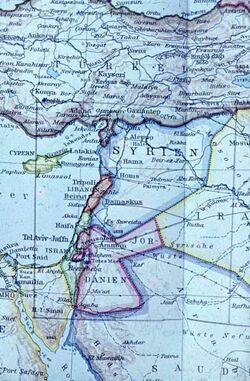 Dia Karte [Palästina/Arabische Halbinsel]
