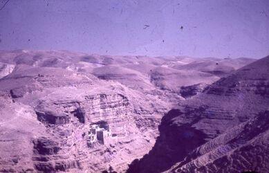 Dia Wadi el kelt [Wadi Kelt] Choziba-Kloster