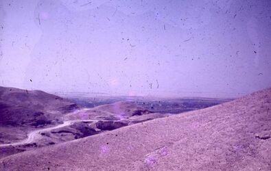 Dia Blick auf Jericho-Oase