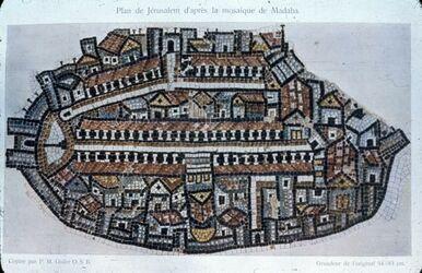 Dia Mosaik-Karte Jerusalem [madaba]