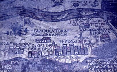 Dia Mosaik-Karte (Jericho) [Madaba]