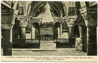 Postkarte Jerusalem. Chapelle de Ste. Hélène. [..., Grabeskirche]