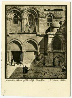Postkarte Jerusalem, Church of the Holy Sepulchre [Grabeskirche]