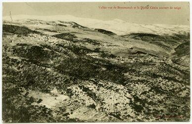 Postkarte Valée vue de Broumanah et le Djebel Cènin couvert de neige