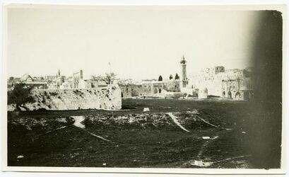 Fotografie Nordwestecke des haram [Tempelberg, Jerusalem]