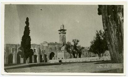 Fotografie Tempelplatz im W [Jerusalem]