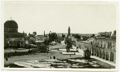Fotografie Haram v. NW [Tempelberg, Jerusalem]