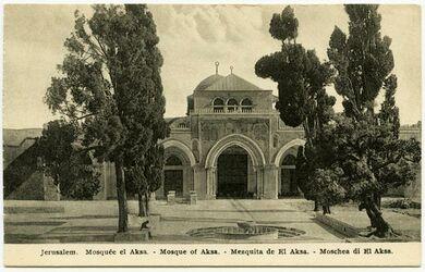 Postkarte Jerusalem. Mosquée el Aksa. [Tempelberg, Jerusalem]