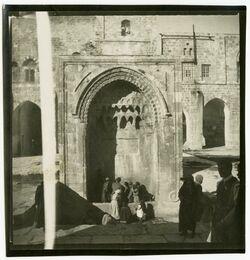 GDIp03958; Fotografie; haram am Nordrande des haram [Tempelberg, Jerusalem], in Bestand von rund 5.000 nach Themen und Orten sortierten Kleinbildabzüge