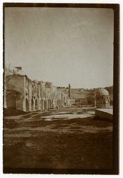 Fotografie Nordseite des haram v. W. [Tempelberg, Jerusalem]
