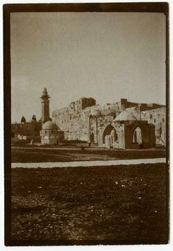 Fotografie Burg Antonia, Nordseite des haram, v. O. [Tempelberg, Jerusalem]