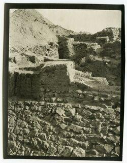 Fotografie Altjericho, woh äussere Mauer [Jericho]