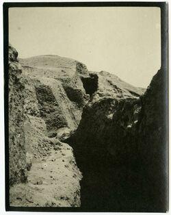 Fotografie Innere Mauer v S. [wohl bei Jericho]
