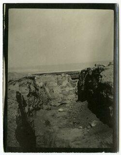 Fotografie Innere Stadtmauer v O [wohl Jericho]