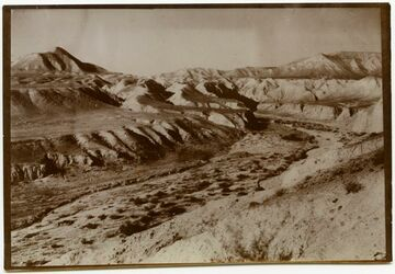 Fotografie wadi ed-dabr. Ausgang n. d. Jordantal