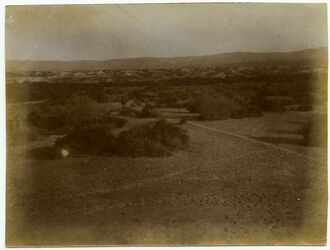 Fotografie Jordantal bei d. Pilgerbadestelle v. Westen