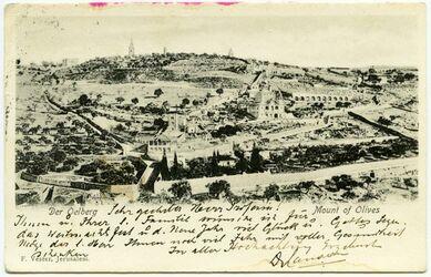 Postkarte Der Oelberg [Jerusalem]