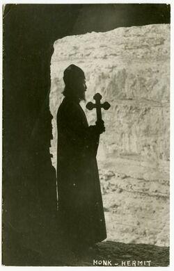 Postkarte Monk - Hermit [südostlich von Jerusalem